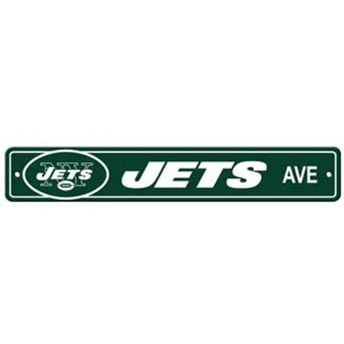 "New York Jets Ave Street Sign 4""x24"" NFL Football Team Logo Avenue Man Cave"
