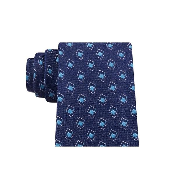 Michael Kors Men's Asymetric Squares Tie Blue Size Regular