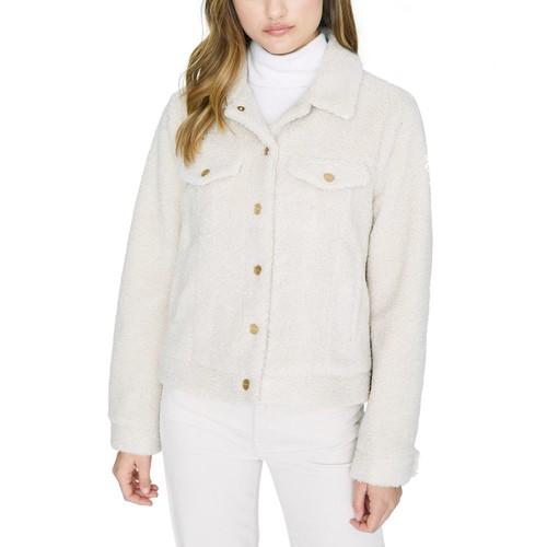 Sanctuary Women's Astoria Faux-Sherpa Jacket Natural Size XX Large