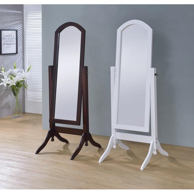Proman Barrington Home Living room Bedroom Decor Cheval Floor Mirror, White