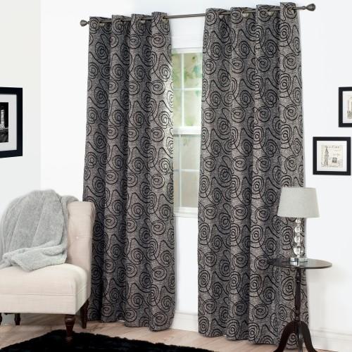 Lavish Home Joy Jacquard Curtain Panel