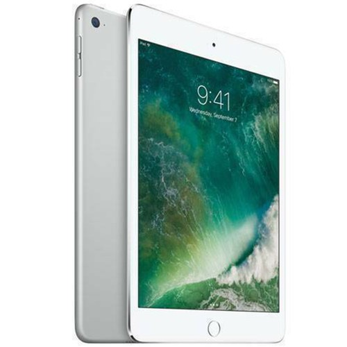 """Apple iPad Mini 4 (4th Gen) 64GB Wi-Fi 7.9"""" Silver 2015 - Grade B"""