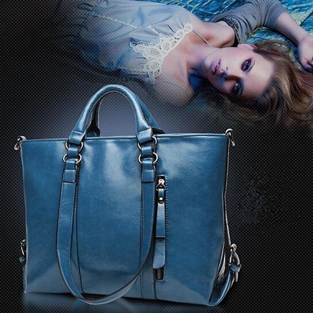Leather Carry-All Messenger Bag Includes Extended Shoulder Strap