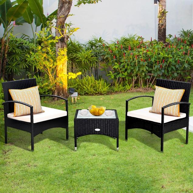 Costway 3 PCS Furniture Set With Cushions
