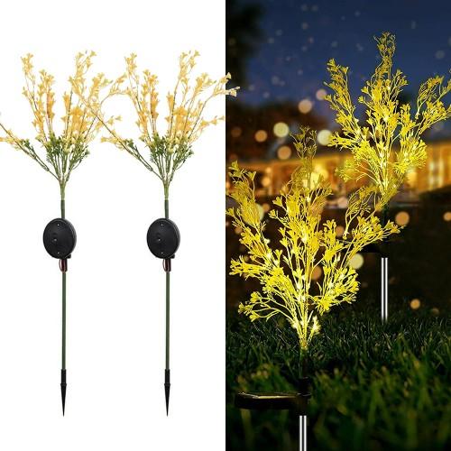 2-Pack Solar Garden Stake Lights Outdoor Flower Lights Pathway Yard Decor