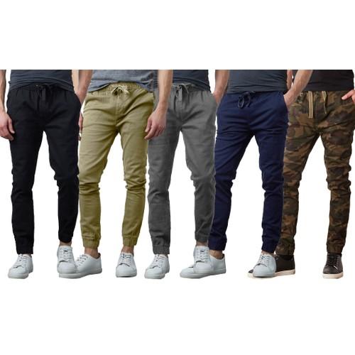 Men's Slim-Fit Classic Cotton Stretch Jogger Pants (Sizes, S to 2XL)