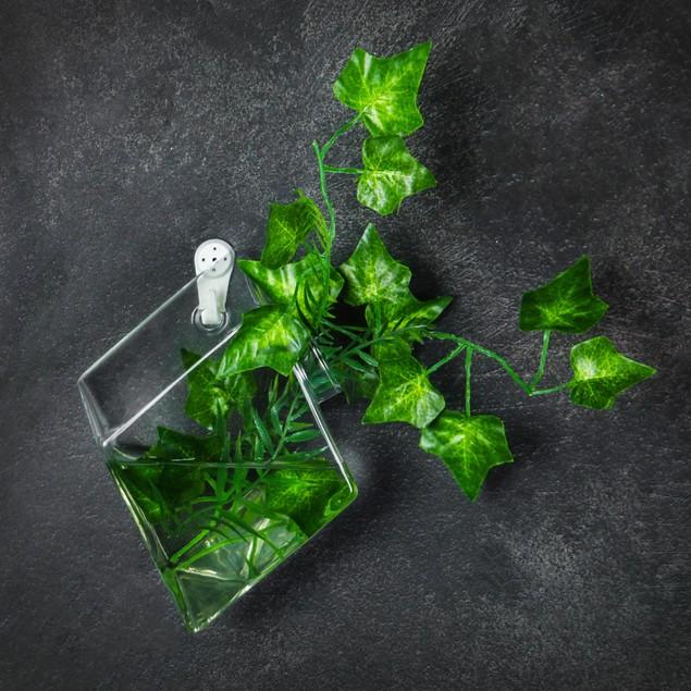 Hanging Diamond Glass Terrarium - Set of 2   MandW
