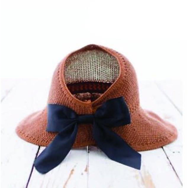 Foldable Summer Satin Bow Sun Visor Hat