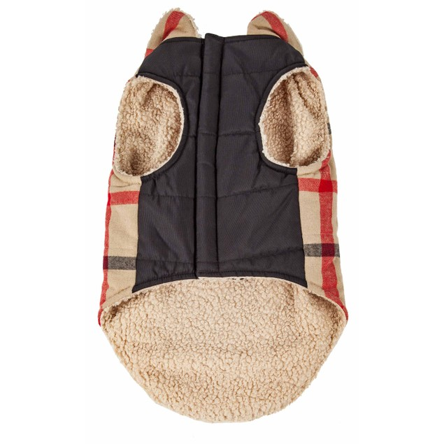 Pet Life 'Allegiance' Classical Plaided Insulated Dog Coat Jacket