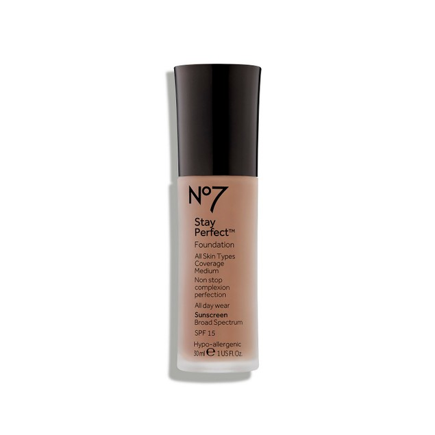 No7 Stay Perfect Foundation Sunscreen with SPF 15, Weather-Proof, 1.0 Oz