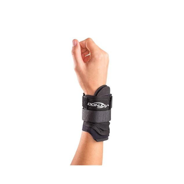 DonJoy Adjustable Nylon/Neoprene Wrist Wrap, Fits Left/Right, Size: Small,