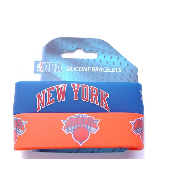 New York Knicks Rubber Wrist Band (Set of 2) NBA