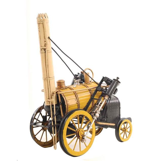 Old Modern Handicrafts 1829 Yellow Stephenson Rocket Steam Locomotive