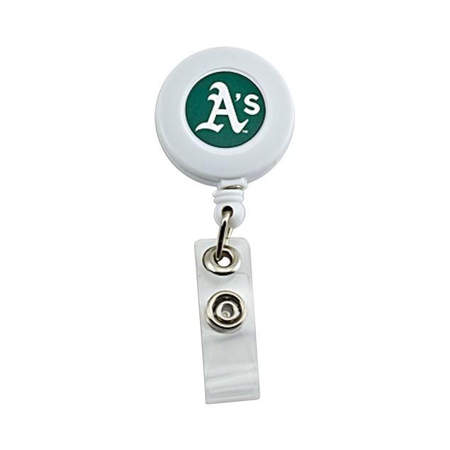 Oakland A's Retractable Badge Reel Id Ticket Clip MLB