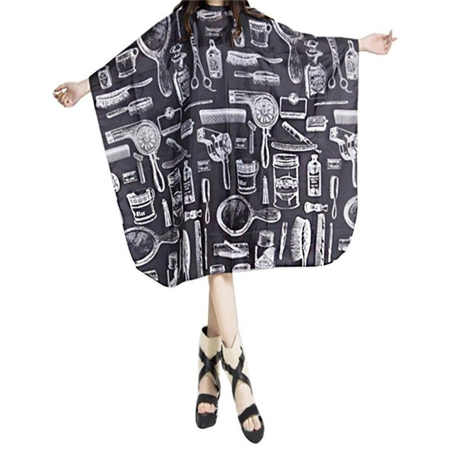 Cutting Hair Waterproof Cloth Salon Barber Gown Cape Hairdressing