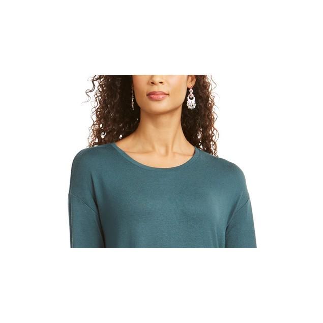 Style & Co Women's Drawstring Tie-Cuff Top Green Size Medium