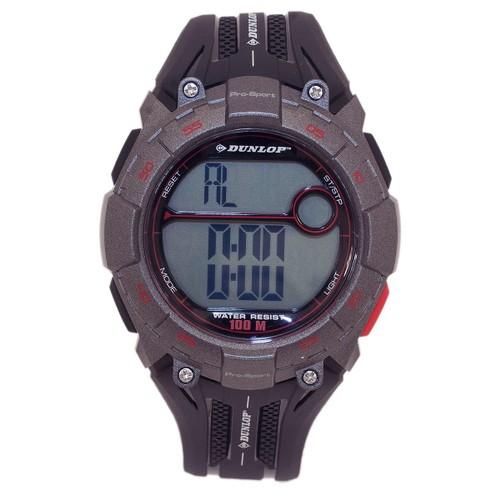 Dunlop Digital Watch for Men Pro Sport Digital Multi-Function Black Quartz Watches