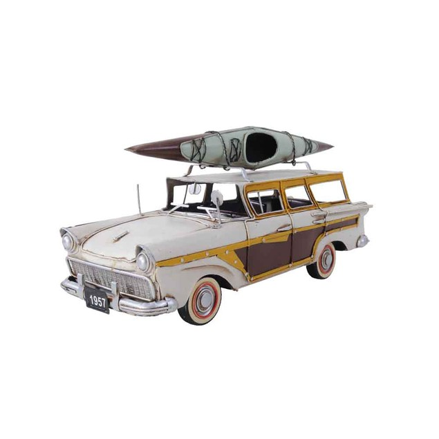 Old Modern Handicrafts Fords Woody-Look Country Squire with Kayak