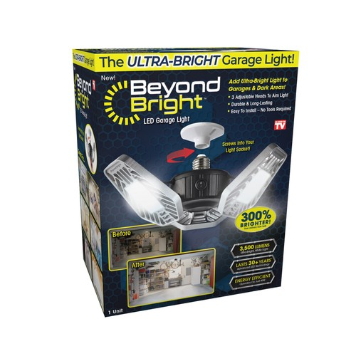 Beyond Bright LED Garage Light As Seen on TV, Allow to Aim the Light