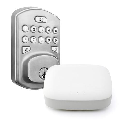 Smart Deadbolt Lock with Hub Combo