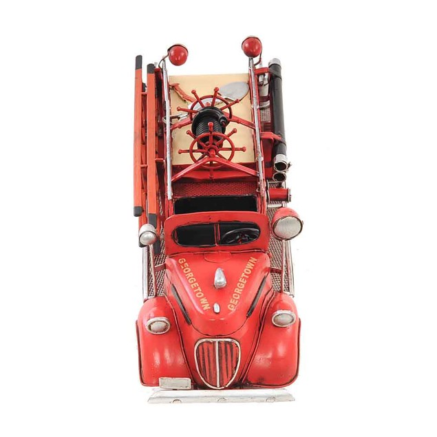 Old Modern Handicrafts Tabletop Decorative 1938 Red Fire Engine Ford 1:40