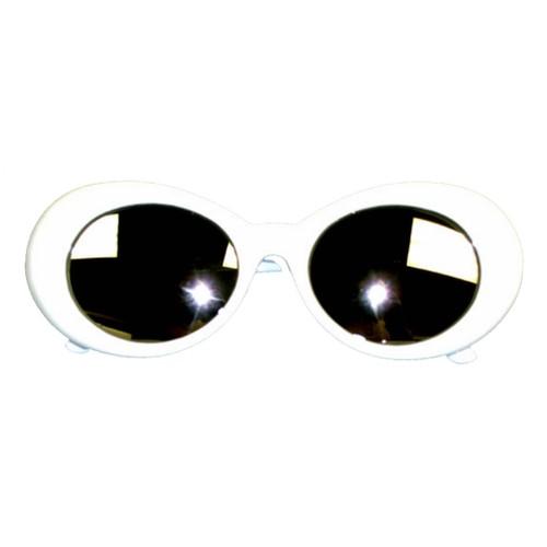 Kurt Cobain White Mirror Lens Sunglasses
