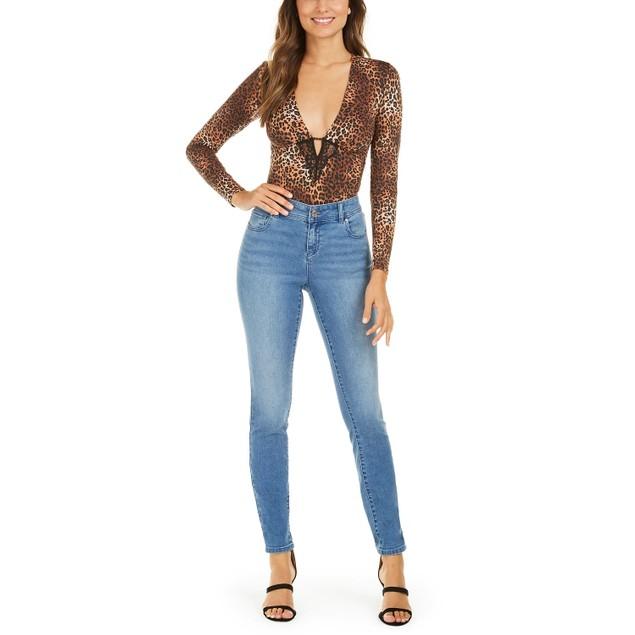 INC International Concepts Women's Leopard-Print Bodysuit Size M