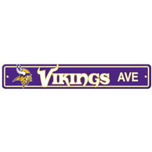 "Minnesota Vikings Ave Street Sign 4""x24"""