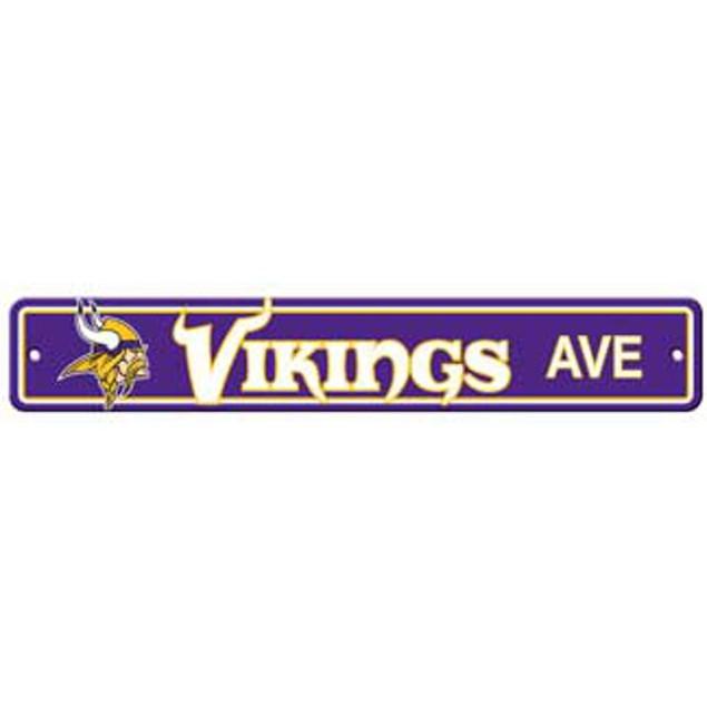 "Minnesota Vikings Ave Street Sign 4""x24"""
