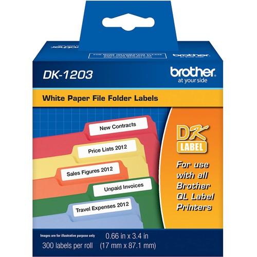 Brothers Brother DK-1203 File Folder Label Roll