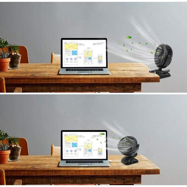 Clip On Fan Quiet Rechargeable USB Stroller Clamp Fan