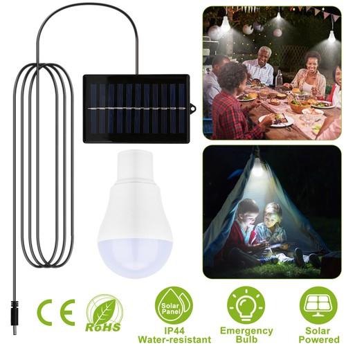 Solar Powered LED Bulb Lamp Rechargeable Night Emergency LED Light