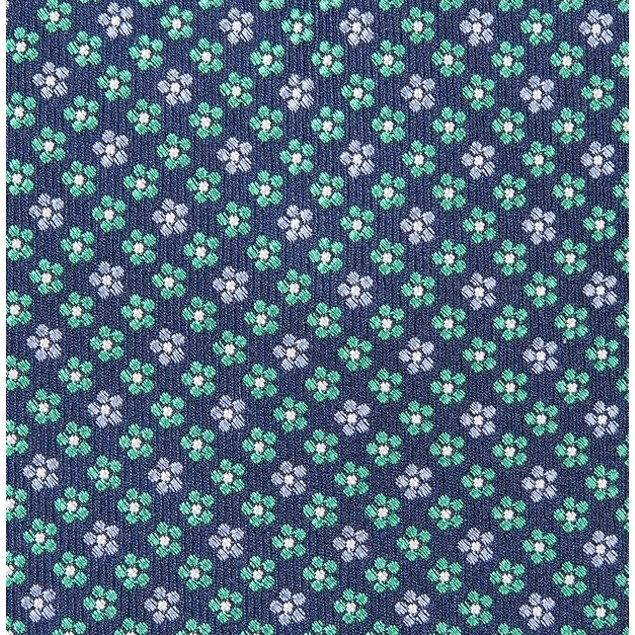 Club Room Men's Daisy Neat Tie Blue Size Regular