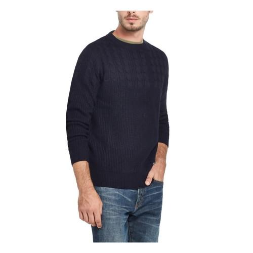 Weatherproof Vintage Men's Cable Yolk Sweater Blue Size XXX Large