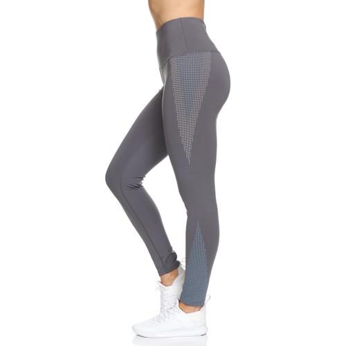 Women's Rubber Dotted High Waist Full Length Legging