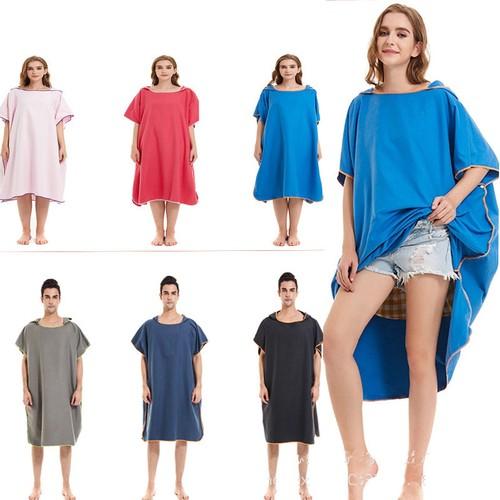 Unisex Double-faced Fleece Quick-drying Cloak Cloak Beach Towel Absorbent Bathrobe