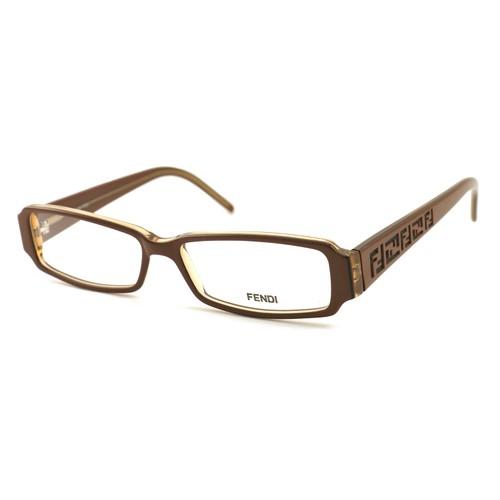 Fendi Women's Eyeglasses FF664 241 Walnut 53 14 140 Full Rim Rectangle
