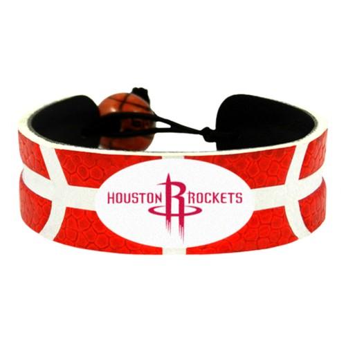 Houston Rockets Team Color Basketball Bracelet NBA HOU Leather