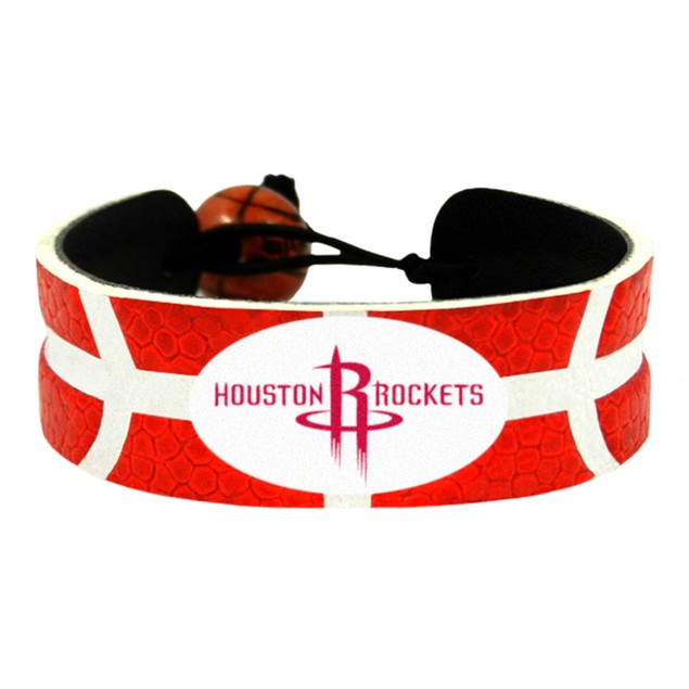 Houston Rockets Team Color Basketball Bracelet NBA HOU Leather