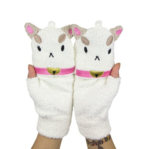 PuppyCat Fleece Mittens Puppy Cat Bee Gloves Cartoon Hangover Bell YouTube