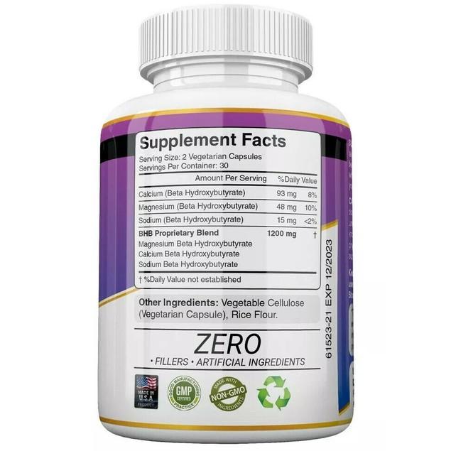 3x Herbal Beauty KETO BHB 1200mg PURE Ketone FAT BURNER Weight Loss Diet Pills