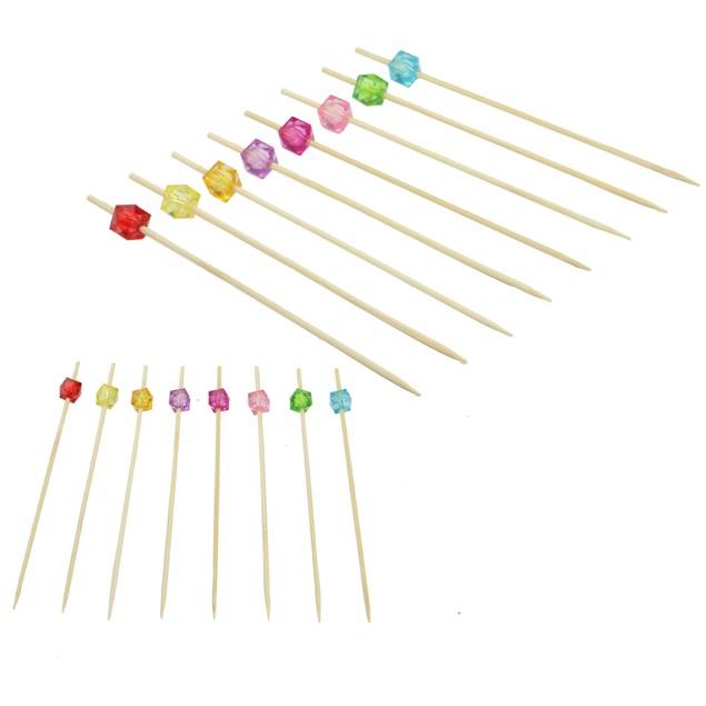 Bamboo Multicoloured Cocktail Sticks | Pukkr