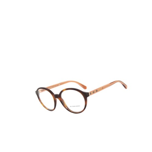 Burberry Light Havana Demo Lens Women Round Eyeglasses 51mm