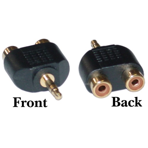 3.5mm Stereo to Dual RCA Audio Adapter, 3.5mm Male to Dual RCA Female