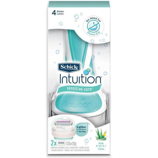 Schick Intuition Sensitive Care Razor + 8 Refill Blades