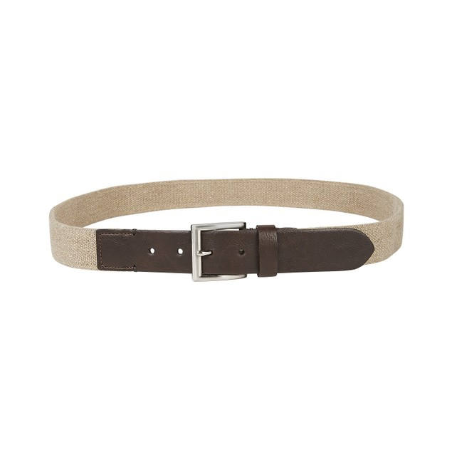 Club Room Men's Casual Stretch Belt Beige Size Medium