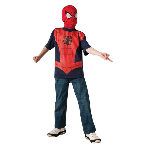 Spider-Man Costume Youth T-Shirt with Mask