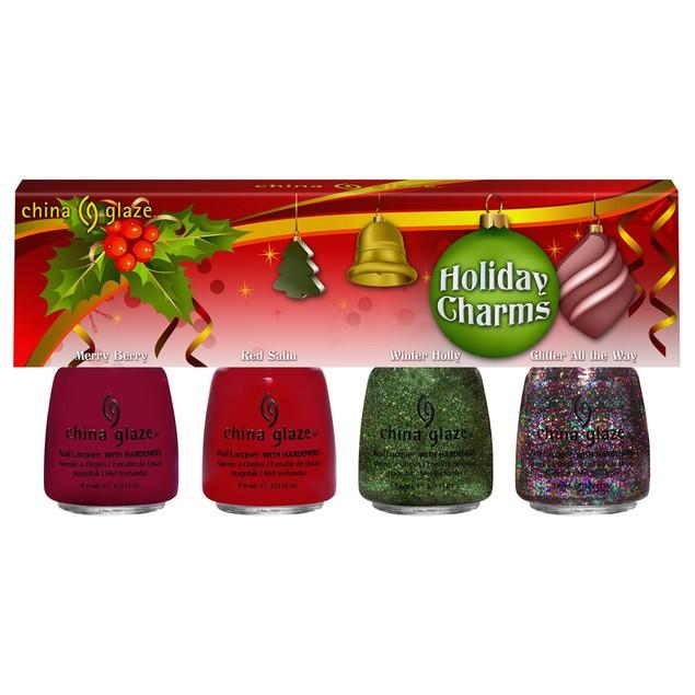 4-Piece China Glaze Holiday Charms Mini Polish Gift Set
