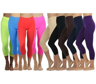 Women's Capri Seamless Lightweight Stretch Leggings Was: $27.99 Now: $12.99.