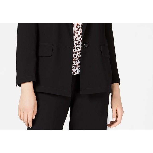 Bar III Women's One-Button Jacket Black Size Medium